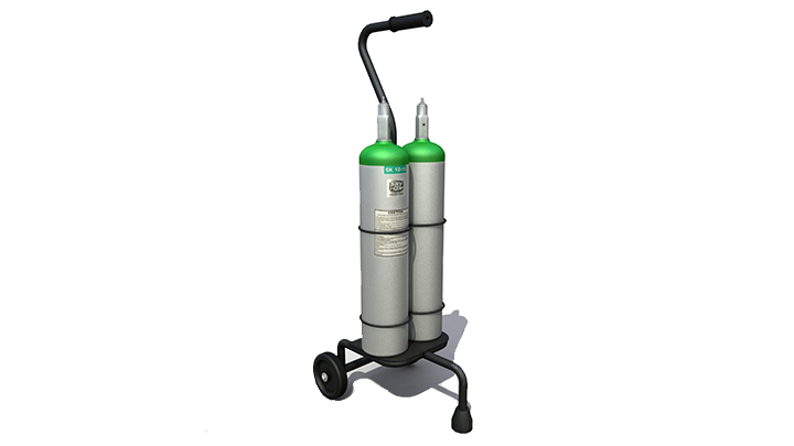 ⭐ Rent or purchase an oxygen cylinder
